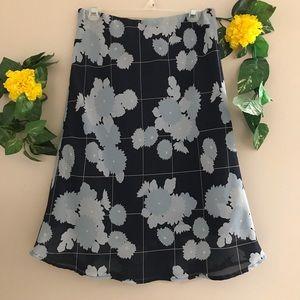 Kathie Lee Collect blue floral skirt size 14